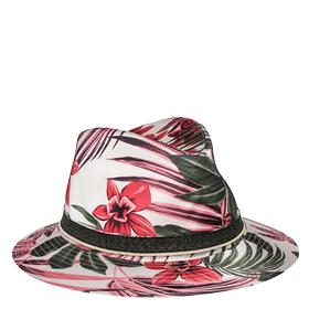 Floral print hat aw4176.000.a0322a