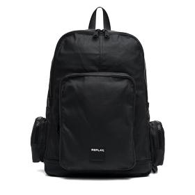 Waxed denim backpack with pockets fm3275.000.a0206a