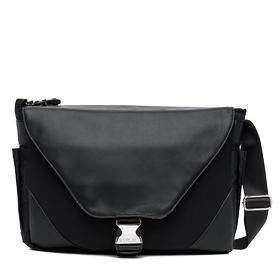 Neoprene messenger bag with faux leather details fm3282.000.a0315