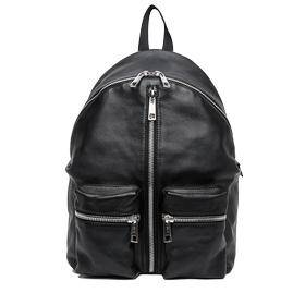 Two-way zip leather backpack fm3291.000.a3127