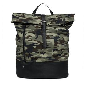 Camouflage backpack with eco-leather details fm3295.000.a0050