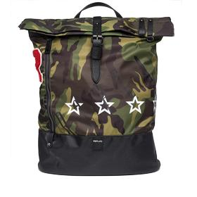 Camouflage backpack with patch fm3295.000.a0345
