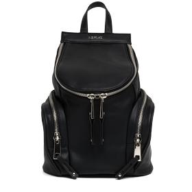 Faux leather backpack with outside pockets fw3665.000.a0015