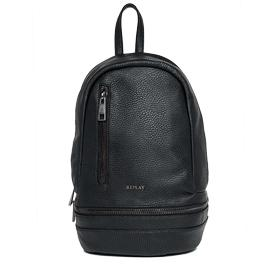 Pebbled-texture backpack with zip detail fw3686.000.a0180b