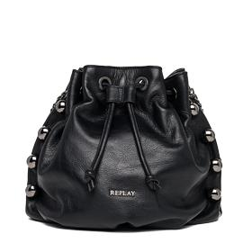 Studded faux leather drawstring bag fw3705.000.a3115