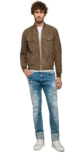 Suede leather jacket m8837 .000.82782