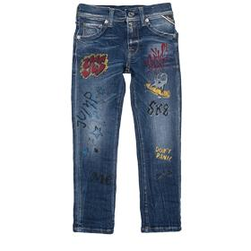 Graffiti print slim-fit jeans sb9011.011.33c308s