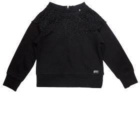 Lace and cotton sweatshirt sg2074.050.20990c