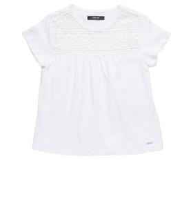 Girls' T-shirt with embroidered yoke sg7448.050.20512