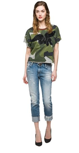 We are Replay camouflage sweatshirt vd7601.000.v71300