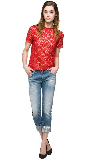 We are Replay lace T-shirt vd7604.000.v82832