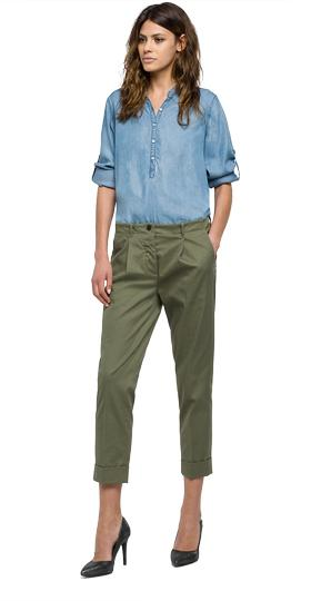 Creased cotton trousers w8802 .000.80749