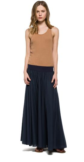 Long solid cotton skirt w9184 .000.82734