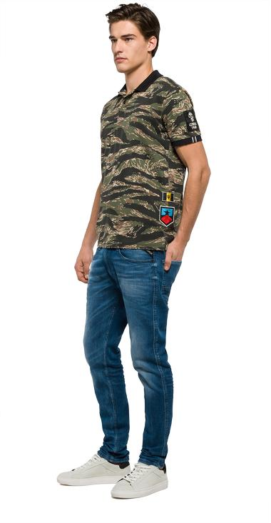 Camouflage polo shirt with patches - Replay M3194A_000_71142_010_1