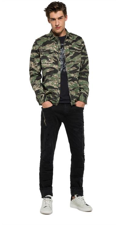 Zip-front camouflage print shirt - Replay M4965_000_70483_010_1