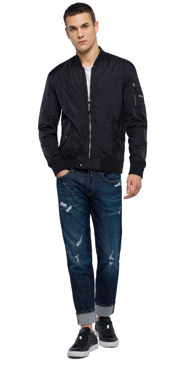 Replay Jeans - Technical bomber jacket with zipper - 1