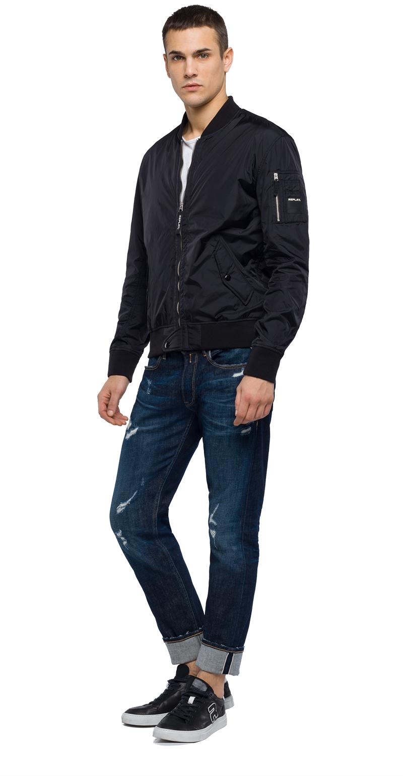 Replay Jeans - Technical bomber jacket with zipper - 4