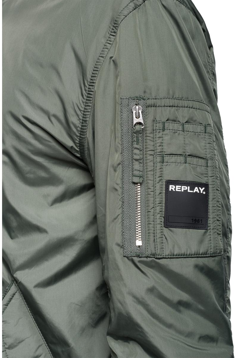 Replay Jeans - Technical bomber jacket with zipper - 5