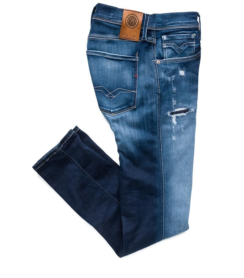 Replay Jeans - Vaqueros de corte slim Hyperflex Anbass Broken & Repair - 9