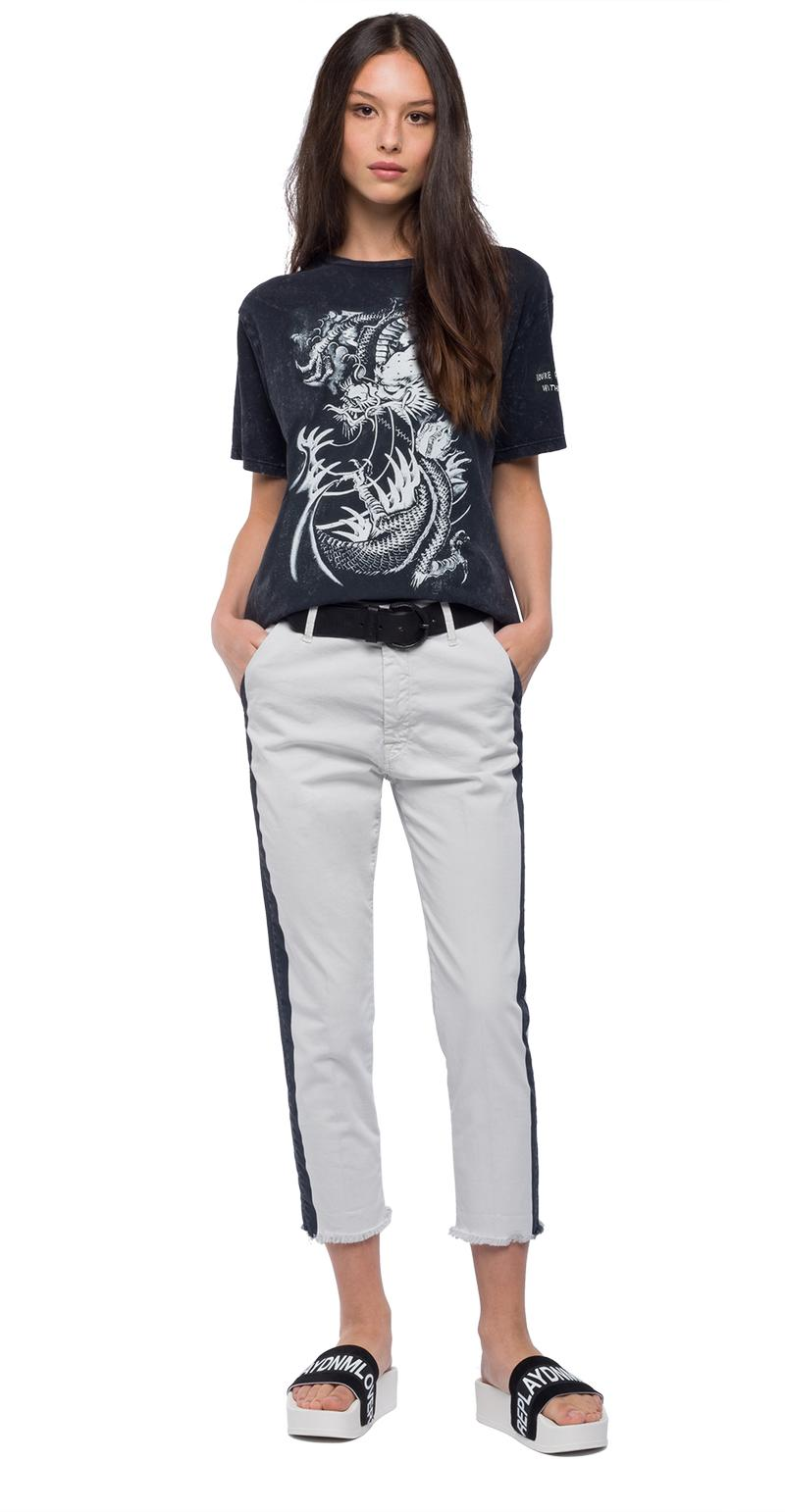 Replay Jeans - Tone-on-tone print t-shirt - 1