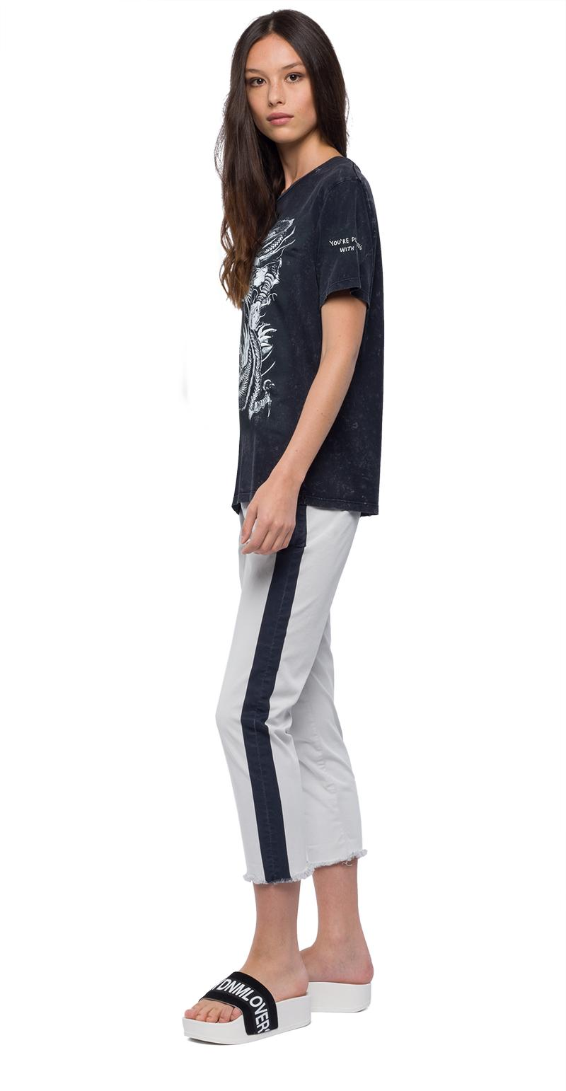 Replay Jeans - Tone-on-tone print t-shirt - 2
