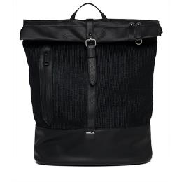 Waxed knit backpack fm3295.000.a0340