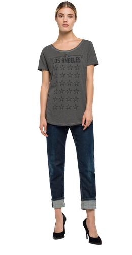 Faded-look printed T-shirt w3978a.000.22336f