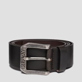 REPLAY brushed leather belt