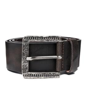 Men's belt with engraved buckle am2465.000.a3001e