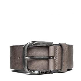 Leather belt with matte buckle am2481.000.a3081c