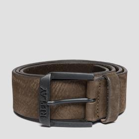 Belt in nubuck leather