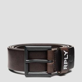 REPLAY hammered leather belt