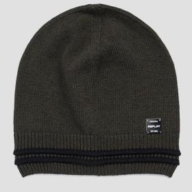 Beanie with striped edge REPLAY