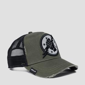 Two-tone cap with bill