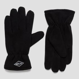 Gloves with suede effect