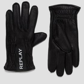 REPLAY leather gloves