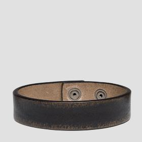 Brushed leather bracelet