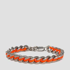 Bracelet with contrasting-coloured cord
