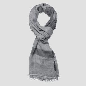 Striped scarf with fringed edges