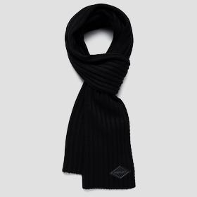 REPLAY ribbed scarf