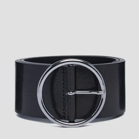 Wide pull-up leather belt