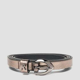 Thin belt in laminated leather