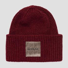 REPLAY beanie viscose and wool
