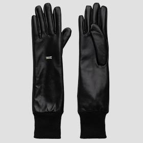 REPLAY long gloves in leather