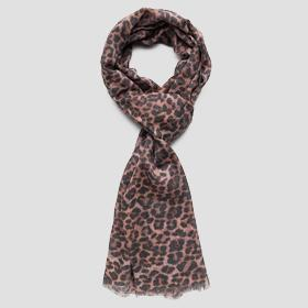 Scarf with animalier print