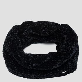 Weaved knit scarf