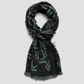 REPLAY scarf with jacquard pattern