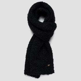 Bouclé scarf in wool and mohair