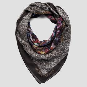 Scarf with double print REPLAY