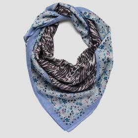 Scarf with double print
